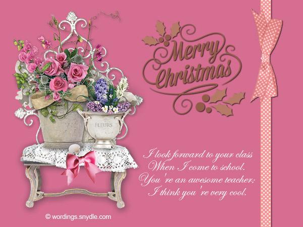 Christmas messages for teachers wordings and messages christmas wishes for teacher greetings to teachers m4hsunfo