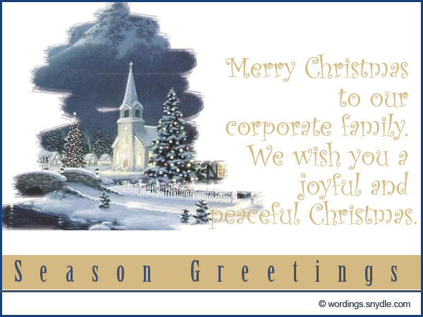Christmas Greetings for Employees