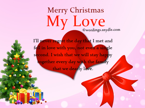Christmas Card Messages for Husband