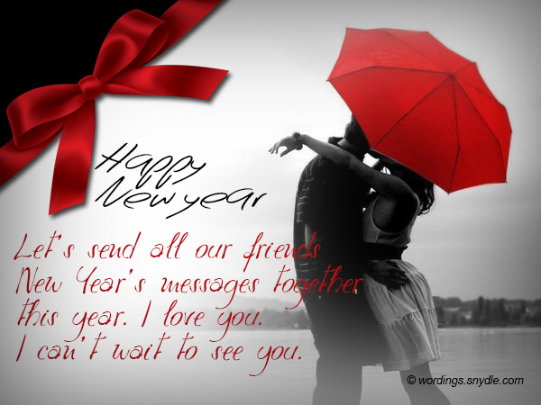 Romantic New Year Messages - Wordings and Messages