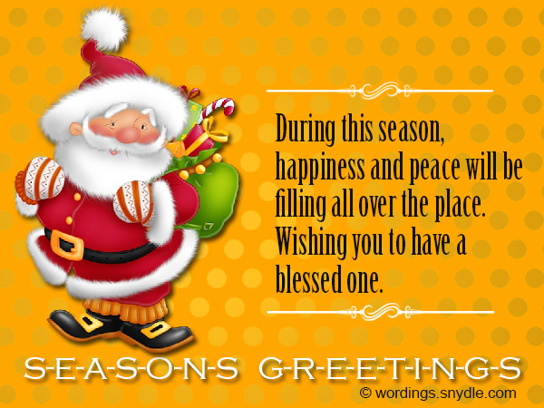 Seasons Greetings Messages