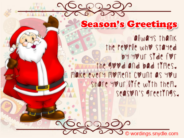 Seasons Greetings Wishes