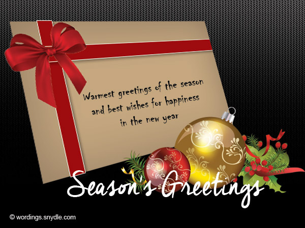 Seasons Greetings Card Messages