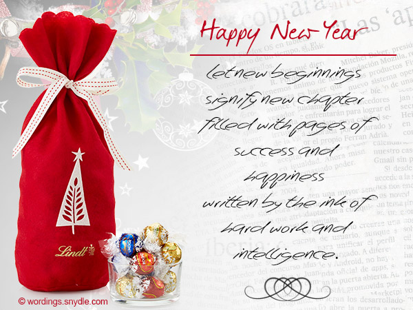Business New Year Messages - Wordings and Messages