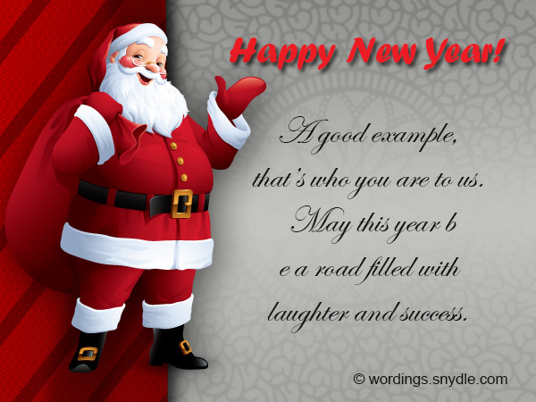 Happy New Year Messages for Boss – Wordings and Messages