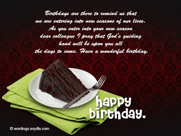 Birthday Messages for Colleague - Wordings and Messages