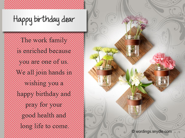 Happy Birthday Message Good Friend ~ Birthday messages for colleague wordings and messages