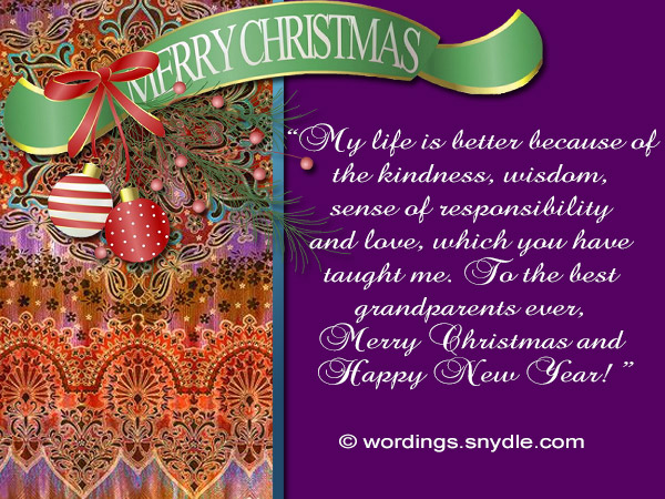 christmas wishes to grandparents