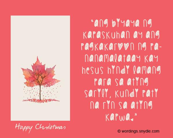 Christian Tagalog Christmas Messages