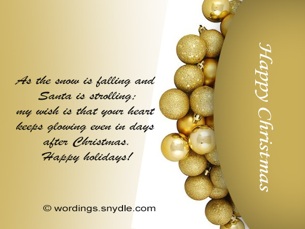 Merry Christmas Card Verses and Poems