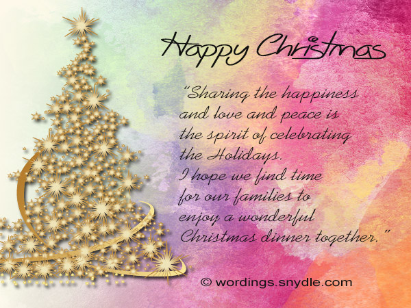 Christmas Greetings For Colleagues and Coworkers Wordings and – Birthday Greetings for Coworkers