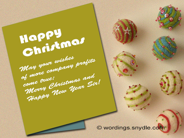 christmas and new year wishes to sir