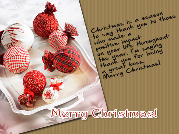 christmas greetings for boss