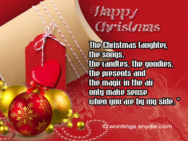 christmas wishes to special person