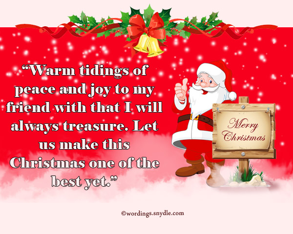 Merry christmas messages for facebook friends wordings and messages joy of christmas m4hsunfo