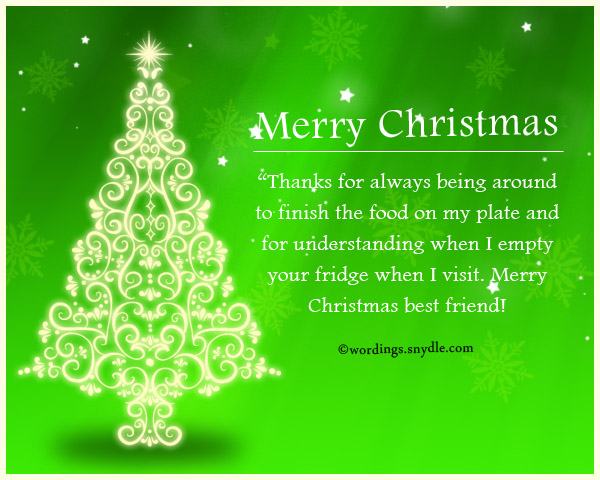 funny christmas wordings
