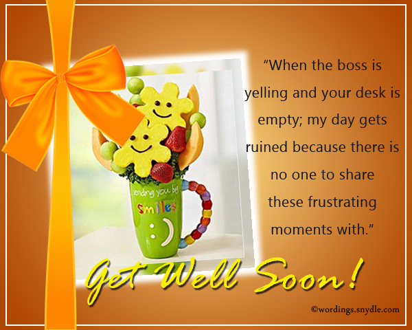 Charming Get Well Soon Messages For Co Worker. U201c