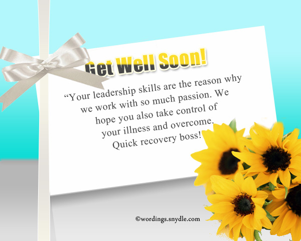 Get well soon messages for boss co workers and colleagues get well soon wishes for boss m4hsunfo