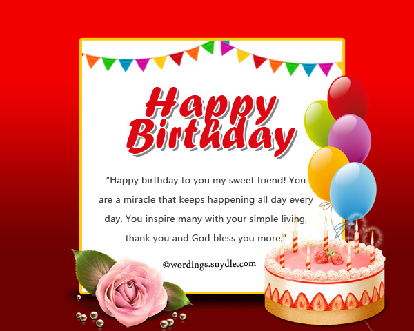 Birthday Messages for Friends on Facebook Wordings and Messages – Thank You Message for Birthday Greetings on Facebook