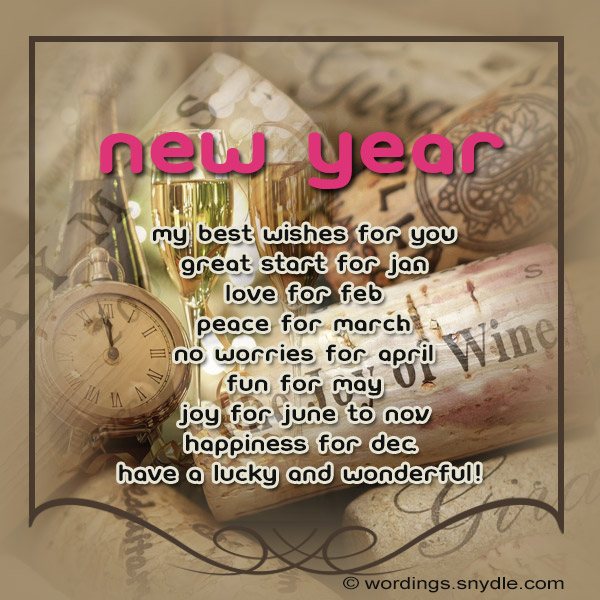 Happy new year card greetings wordings and messages happy new year card greetings m4hsunfo