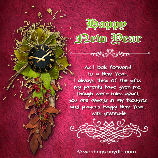 Happy new year messages for family wordings and messages happy new year greeting card m4hsunfo