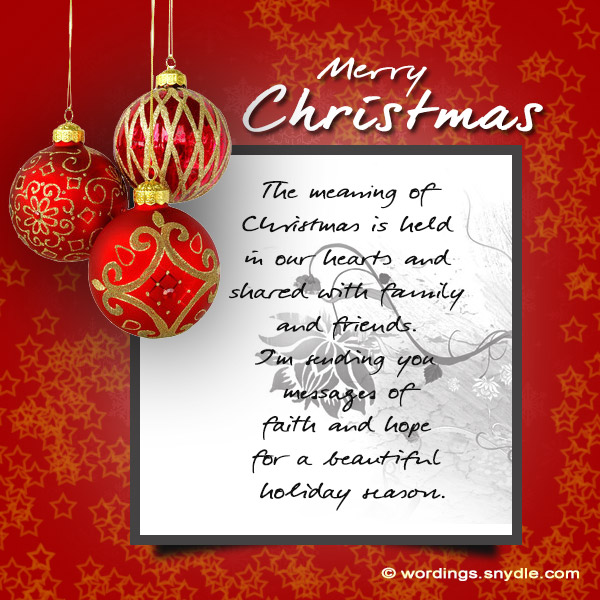 Merry Christmas and Happy New Year Messages - Wordings and Messages