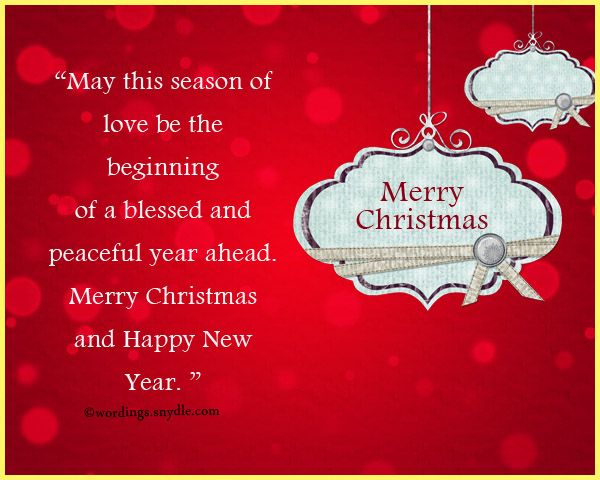 Christmas Card – Wordings and Messages