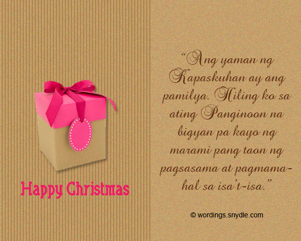 merry christmas messages in tagalog - Merry Christmas Tagalog