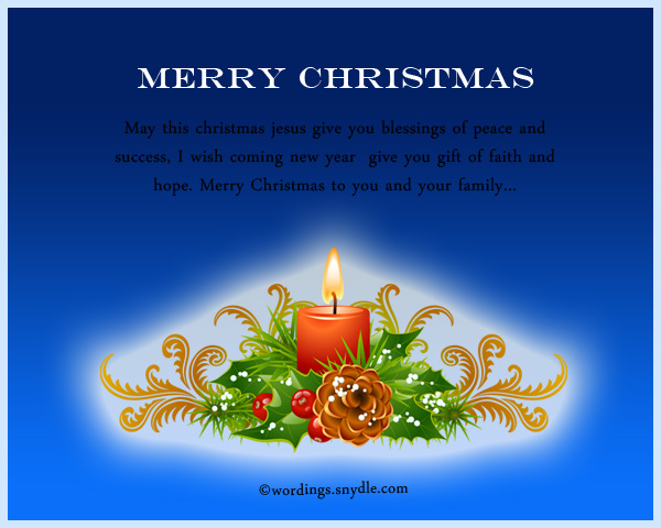 Religious Christmas Messages and Wishes - Wordings and Messages