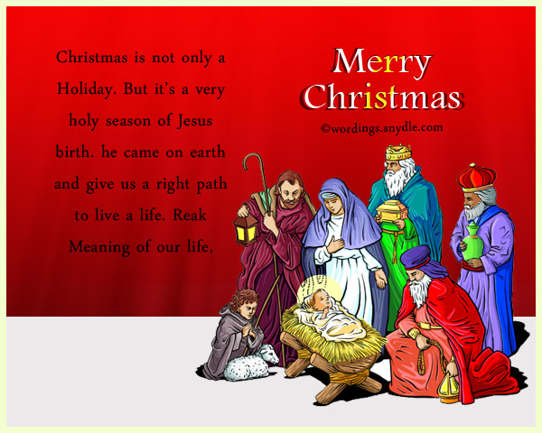 Religious Christmas Messages and Wishes - Wordings and ...