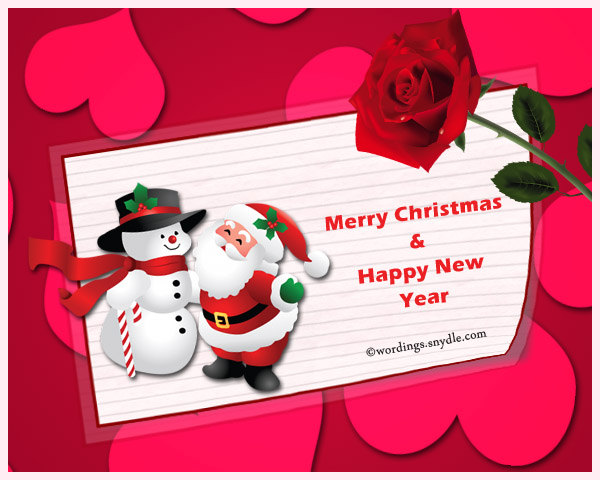 romantic christmas cards to lover