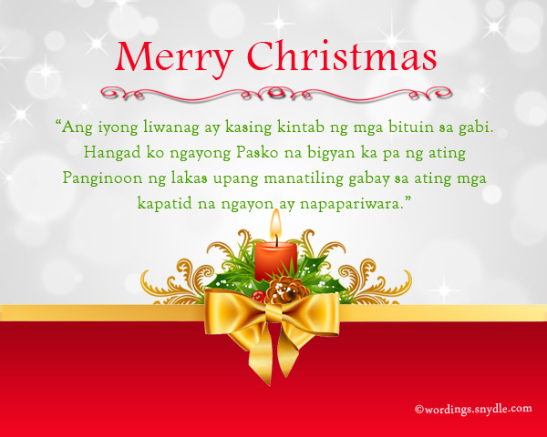 tagalog christmas wishes and messages