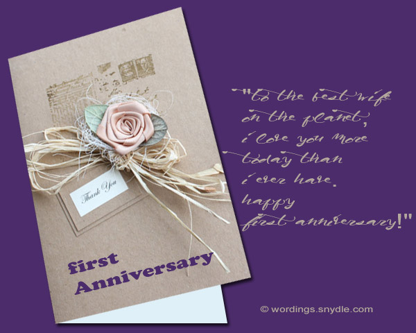 1st wedding anniversary messages wordings and messages 1st wedding anniversary messages and cards 03 m4hsunfo
