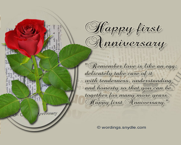 1st wedding anniversary messages wordings and messages 1st wedding anniversary messages and cards 05 m4hsunfo