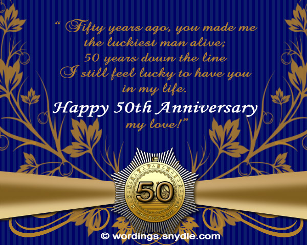 50th wedding anniversary messages wordings and messages 50th wedding anniversary messages m4hsunfo