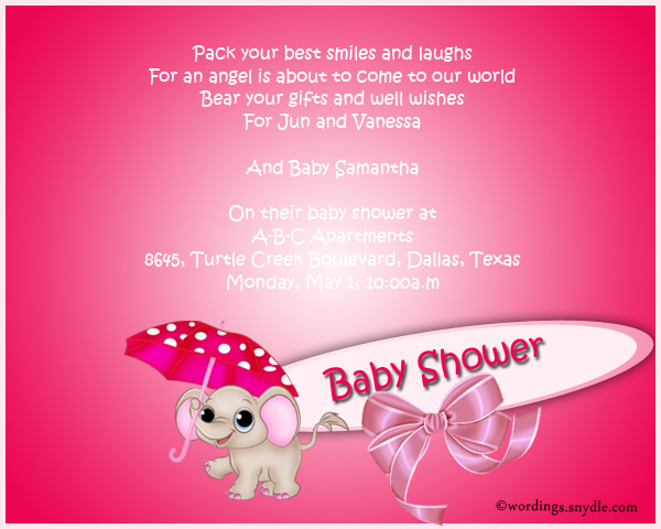 Baby shower party invitation wording wordings and messages baby shower party invitation wordings stopboris Images