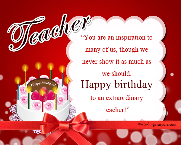 Birthday wishes for teacher wordings and messages birthday wishes for teacher m4hsunfo