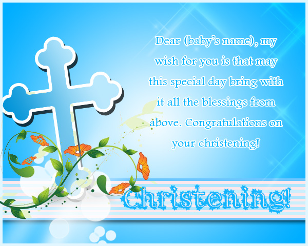 Baptismal Invitation Message with good invitation example