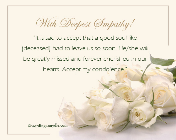 Condolence Messages - Wordings And Messages