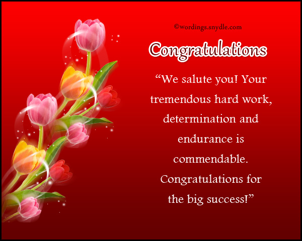 Congratulations Messages For Achievement Wordings And