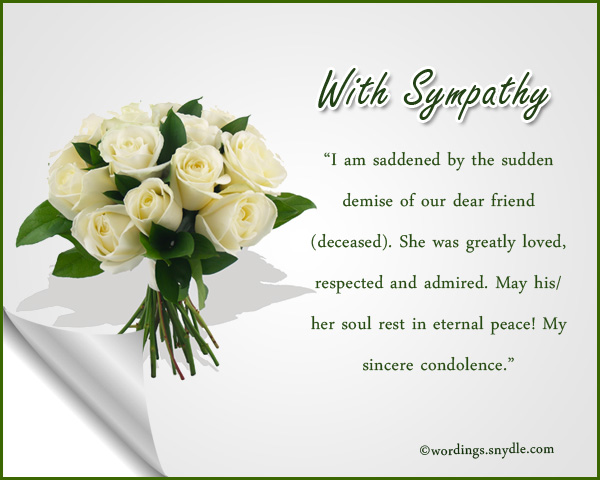 Condolence Messages  Wordings And Messages
