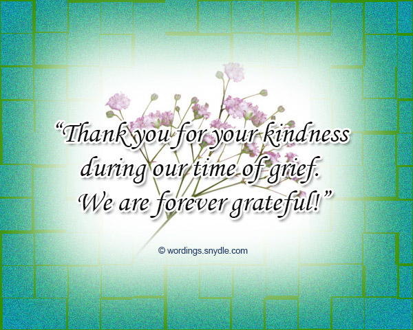 Funeral Thank You Notes Wording  Wordings And Messages