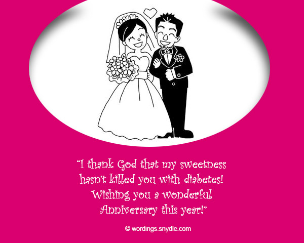 Funny Wedding Anniversary Messages - Wordings and Messages