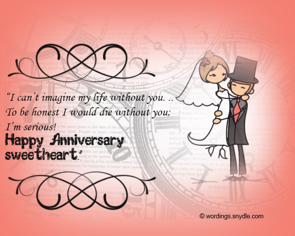 Wedding Gift List Message Funny : Funny Wedding Anniversary Messages - Wordings and Messages