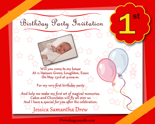 1st birthday party invitation wording wordings and messages 1st birthday party invitation cards for boy stopboris Images