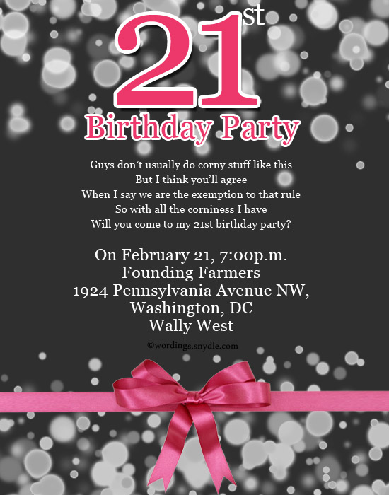21st birthday party invitation wording wordings and messages 21st birthdy celebration invitation wordings stopboris Images
