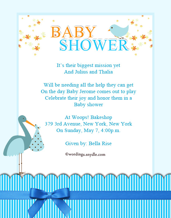 Baby Shower Party Invitation Cards  Baby Shower Invitations Words