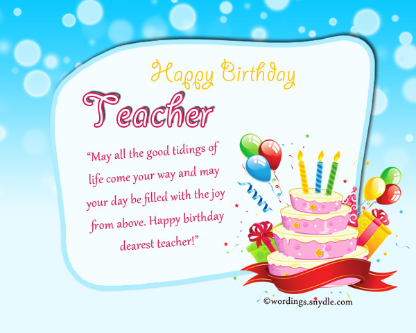 birthday cards for teacher