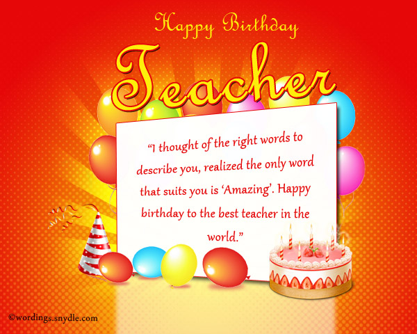 birthday greetings for teacher