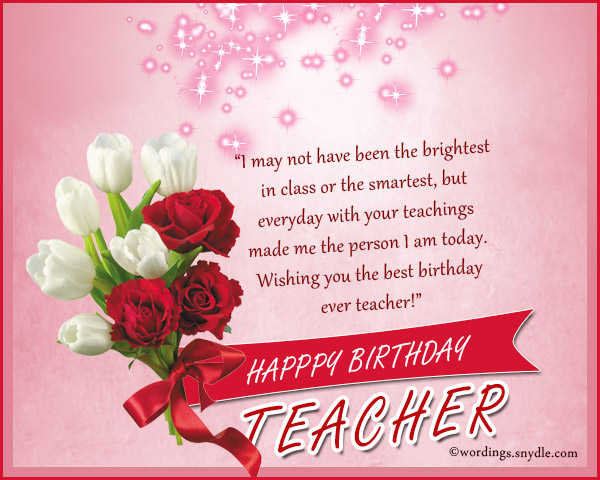 birthday words for teacher